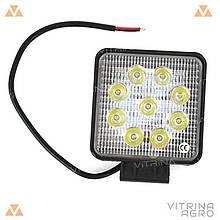 Світлодіодна Фара квадратна LED (27Вт 12-24В) | 27W R-SPOT (M&Z Factory)