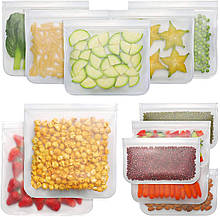 Набір з 12 Багаторазових Пакетів Zhentu для Зберігання, Заморожування і Транспортування Їжі Їжі та продуктів