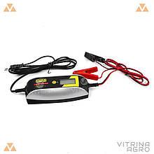 Зарядний пристрій для авто 12В (6В), 4А (цифровий імпульсний індикатор) | СИЛА 900208