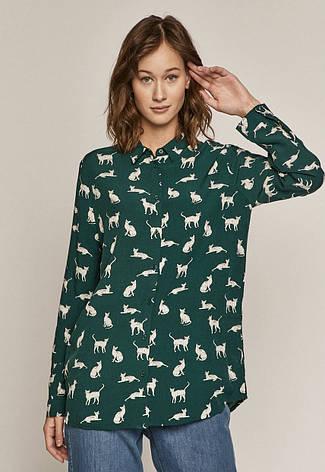 Рубашка женская зелёная  с рисунком Medicine, фото 2