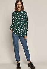 Рубашка женская зелёная  с рисунком Medicine, фото 3