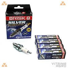 Свічки запалювання Silver ГАЗ 2705, газ-3102, 3302 Газель | Brisk BR LR17YS.4K