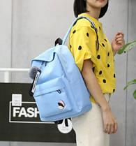 Модний тканинний рюкзак з помпоном, фото 3