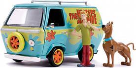 Машина металлическая Jada Scooby-Doo Mystic Bus + фигурки Скуби-Ду и Шэгги 1:24 (253255024)