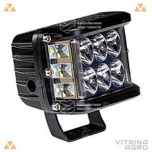 Светодиодная фара LED (ЛЕД) прямоугольная 60W (12 диодов) | VTR