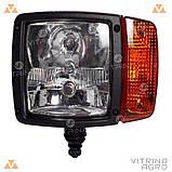 Світлодіодна фара LED (ЛІД) JCB, CAT, VOLVO, CASE, Komatsu, LIEBHERR ліва (далекий близький світ) | VTR, фото 2