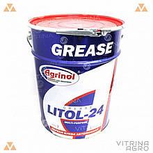 Литол-24 (Ведро 17кг) антифрикционная водостойкая смазка │ Агринол 4102789963