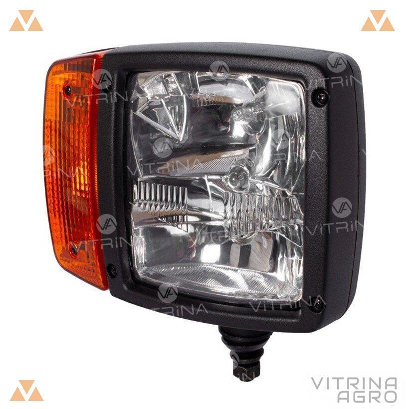 Світлодіодна фара LED (ЛІД) JCB, CAT, VOLVO, CASE, Komatsu, LIEBHERR права (ближнє, дальнє світло) | VTR