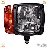 Світлодіодна фара LED (ЛІД) JCB, CAT, VOLVO, CASE, Komatsu, LIEBHERR права (ближнє, дальнє світло) | VTR, фото 2