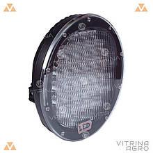 Светодиодная фара LED (ЛЕД) круглая 185W (37 диодов) 222 мм х 222 мм х 72 мм | VTR