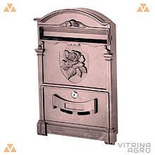 Почтовый ящик - роза (коричневый) Пластик   VTR (Украина) PO-0019