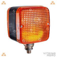 Ліхтар світлодіодний LED (ЛІД) габаритний квадратний універсальний 88 мм х 88 мм х 80 мм 12 В | VTR