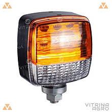 Ліхтар світлодіодний ЛІД габаритний квадратний універсальний 108 мм х 83 мм х 63 мм 12/24/36В | VTR