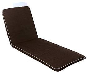 Матрас для шезлонга Baltic ткань Тексилк Кофейно-бежевый меланж, 4240 (ОСТ-ФРАН ТМ) Коричневый меланж, 4203