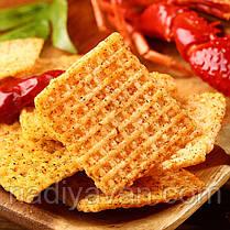 Рисовые чипсы  3 вкуса *120г (краб, раки, сычуанский перец), фото 3
