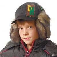 """Зимняя шапка для мальчика с козырьком """"Рональдо"""""""