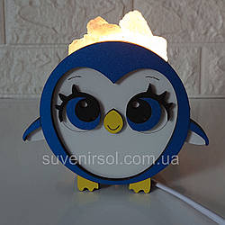 """Соляной светильник деревянный """"Пингвин"""""""