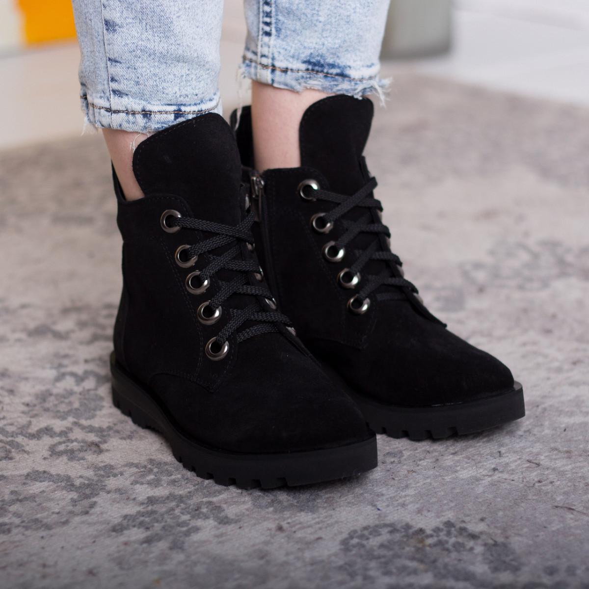 Ботинки женские Fashion Daaku 2647 40 размер 25,5 см Черный
