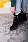 Ботинки женские Fashion Daaku 2647 40 размер 25,5 см Черный, фото 5