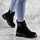 Черевики жіночі Fashion Elmo 2267 36 розмір, 23,5 см Чорний, фото 9