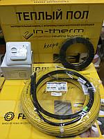 5,5 m2 Теплый пол IN-Term (Чехия) двухжильный греющий кабель, обогрев пола