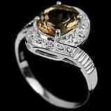 Серебряное кольцо с топазом Империал, 1689КТ, фото 2