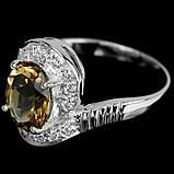 Серебряное кольцо с топазом Империал, 1689КТ, фото 3