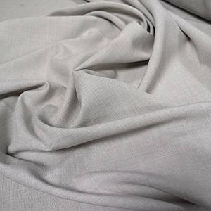 Костюмная ткань габардин лен светло-бежевый