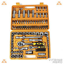 Набір головок 108 шт. 1/4 1/2 c тріскачкою стандарт СИЛА | 251308