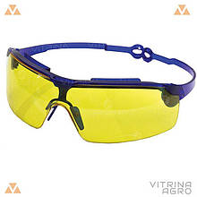 Очки защитные Драйвер жёлтые (поворотные удлинённые дужки, линза ПК, не потеющая, антицарапина)   VTR