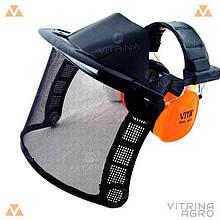 Захисний щиток для обличчя - сітка з навушниками 31 db | VTR (Україна) ZW-0006