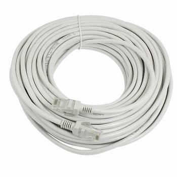 Патч-корд RJ45 17м, сетевой кабель UTP CAT5e 8P8C, LAN, белый