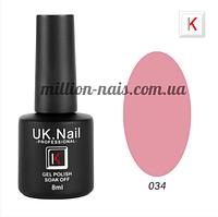 Гель-лаки UK.Nail 8 мл, №34, фото 1