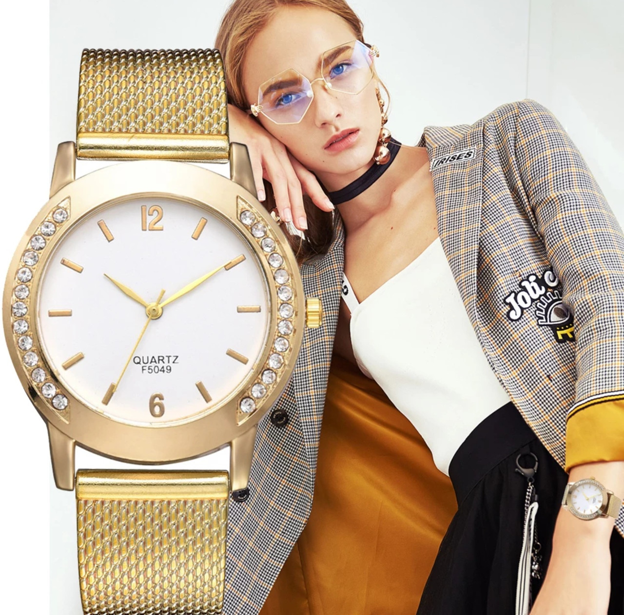 Годинники жіночі золотий колір