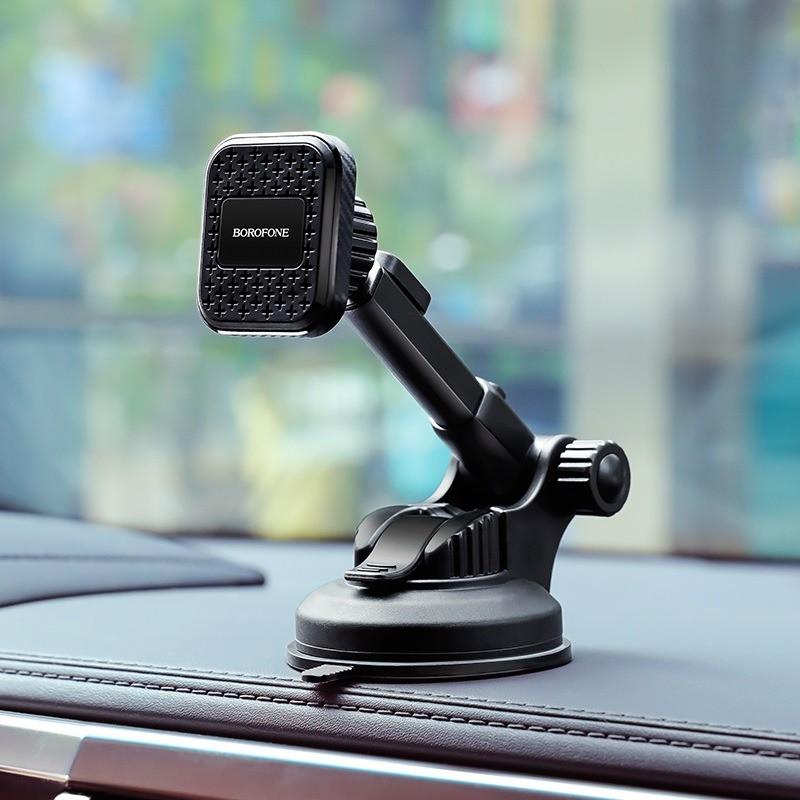 Автомобильный держатель телефона BOROFONE BH21 Vanda магнитный для центральной консоли, ветрового стекла