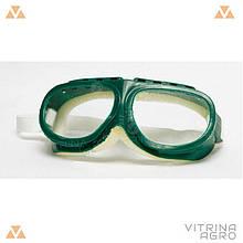 Окуляри захисні на гумці (зелені)