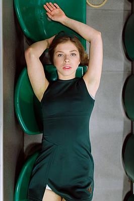 Сукня для тенісу No tie XS Смарагдова
