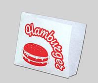 Бумажные пищевые пакеты для гамбургера 150 х 140 мм (уп-100 шт)