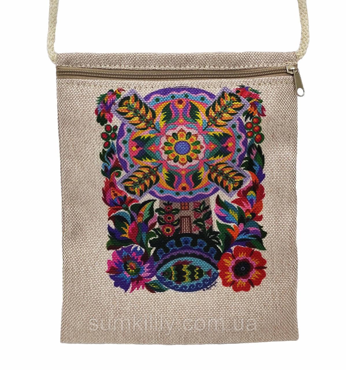Текстильный кошелек  Мельница жизни