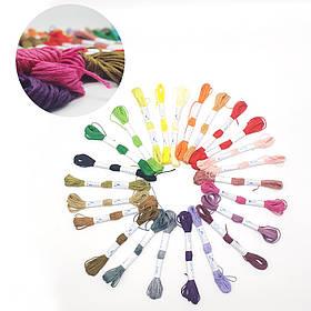 Нитки мулине для вышивки 100шт по 8м Цвета  МИКС для вышивания
