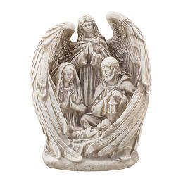 Статуэтка Decoline Святое семейство с ангелом песочная, (гипс) R0220-7 (G)
