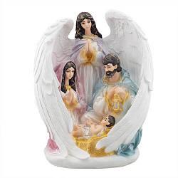 """Статуэтка Decoline """"Святая семья с ангелом"""" (цвет.) (гипс) R0220-5(G)"""