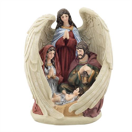 Статуэтка Decoline Святое семейство с ангелом цветная, (гипс) R0220-6 (G)