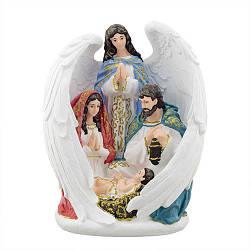"""Статуетка Decoline """"Свята родина з ангелом"""" (кол.) (гіпс) R0220-1(G)"""