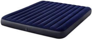 Матрас надувной двухместный Intex 64755 183х203х25 см, синий
