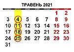 Графік обжарювання кави КНБК Травень 2021