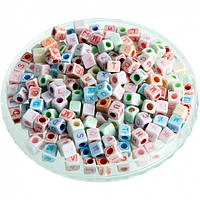 Аксессуары для браслетов из резиночек кубики буквы Loom Bands