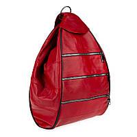 Женский кожаный рюкзак-сумка LT 5617 красный (fb)