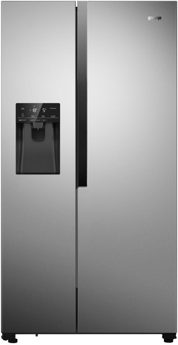 Холодильник з морозильною камерою Gorenje NRS9181VX