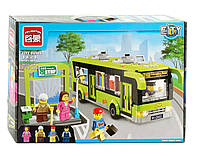 Автобус игрушечный – конструктор Brick 1121, блочный, красочные цвета